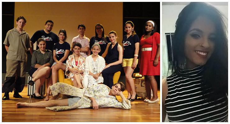 Na primeira foto (o segundo da esquerda para direita) Professor Hedpo Felipe de Azevedo | Na segunda foto a aluna Juliana Pereira da Silva