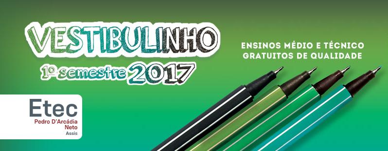 Vestibulinho Etec 1 Semestre 2017